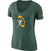 Nike Women's Green Bay Packers Historic Logo Tri-Blend Green T-Shirt