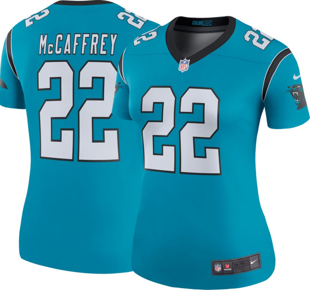 new styles cd247 ba266 Nike Women's Color Rush Legend Jersey Carolina Panthers Christian McCaffrey  #22