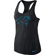 Nike Women's Carolina Panthers Dri-FIT Performance Black Tank Top
