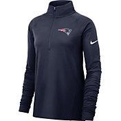 Nike Women's New England Patriots Core Navy Half-Zip Pullover