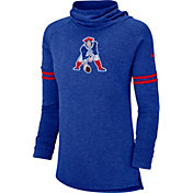 Nike Women's New England Patriots History Royal Funnel Pullover