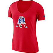 Nike Women's New England Patriots Historic Logo Tri-Blend Red T-Shirt