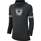 Nike Women's Oakland Raiders History Black Funnel Pullover