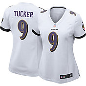Nike Women's Away Game Jersey Baltimore Ravens Justin Tucker #9