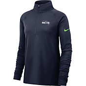 Nike Women's Seattle Seahawks Core Navy Half-Zip Pullover