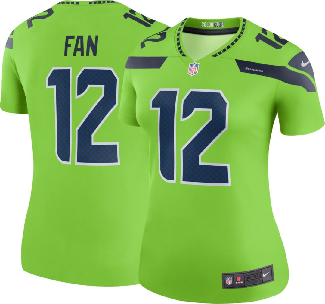 sports shoes 63c04 1a5ec Nike Women's Color Rush Legend Jersey Seattle Seahawks Fan #12