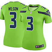 Nike Women's Color Rush Legend Jersey Seattle Seahawks Russell Wilson #3