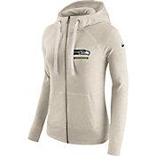 Nike Women's Seattle Seahawks Vintage Oatmeal Full-Zip Hoodie