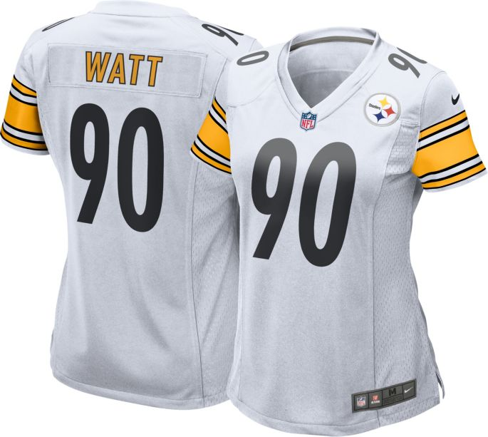 new style 8ca67 0e0db Nike Women's Away Game Jersey Pittsburgh Steelers T.J. Watt #90
