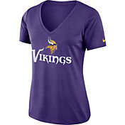 Nike Women's Minnesota Vikings Dry Performance Purple V-Neck Top