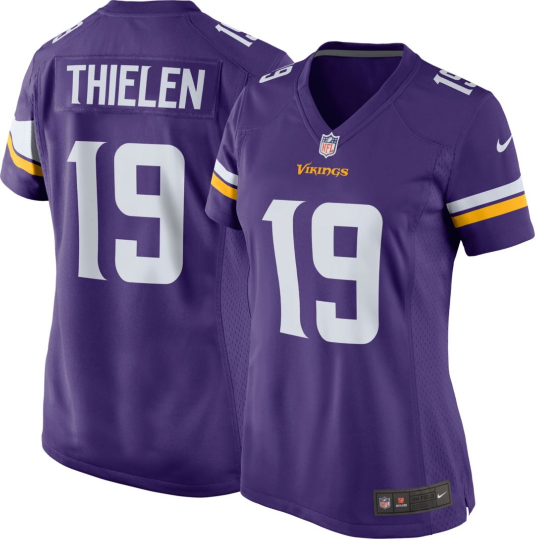 official photos ac8e3 f7f75 Nike Women's Home Game Jersey Minnesota Vikings Adam Thielen #19