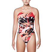 Nike Women's Drift Graffiti Modern V-Back Swimsuit