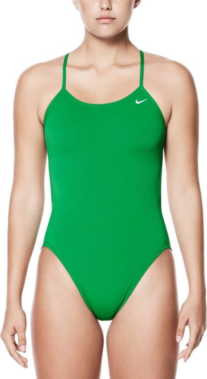 uk availability db291 02c67 Nike Women s Poly Core Solid Cut-Out Tank Swimsuit