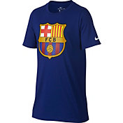 Nike Youth Barcelona Blue Crest T-Shirt