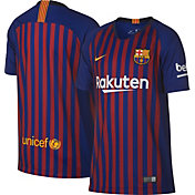 Nike Youth Barcelona FC 2018 Breathe Stadium Home Replica Jersey