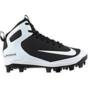 quality design 02520 92429 Product Image · Nike Kids  Alpha Huarache Pro Mid Baseball Cleats. Black  White ...