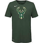 Nike Youth Milwaukee Bucks Dri-FIT Green Logo T-Shirt