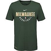 Nike Youth Milwaukee Bucks Dri-FIT Green Practice T-Shirt
