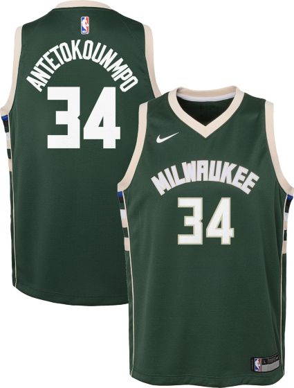 Nike Youth Milwaukee Bucks Giannis Antetokounmpo  34 Green Dri-FIT Swingman  Jersey. noImageFound f828b0485