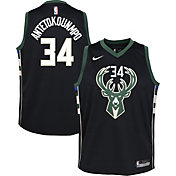 Nike Youth Milwaukee Bucks Giannis Antetokounmpo #34 Black Dri-FIT Swingman Jersey