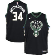 Nike Youth Milwaukee Bucks Giannis Antetokounmpo #34 Black Statement Dri-FIT Swingman Jersey