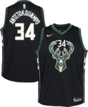 854d091adedd Nike Youth Milwaukee Bucks Giannis Antetokounmpo  34 Black Dri-FIT Swingman  Jersey