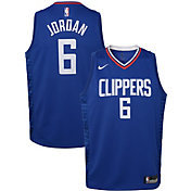 Nike Youth Los Angeles Clippers DeAndre Jordan #9 Royal Dri-FIT Swingman Jersey