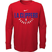 Nike Youth Los Angeles Clippers Dri-FIT Red Practice Long Sleeve Shirt