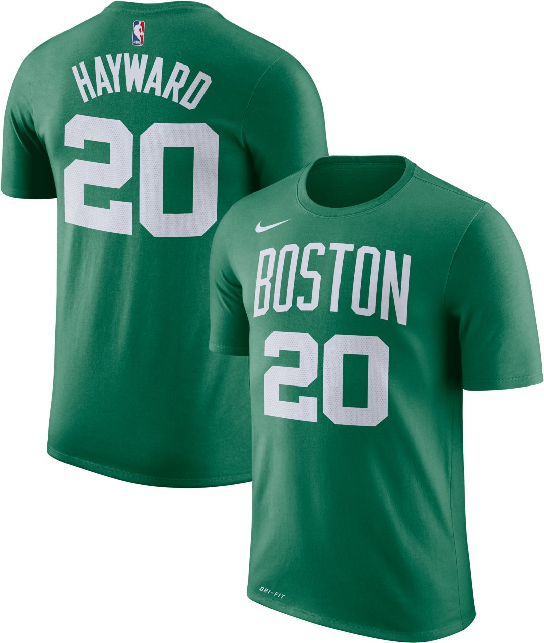 new style 3cf29 74245 Nike Youth Boston Celtics Gordon Hayward #20 Dri-FIT Kelly Green T-Shirt