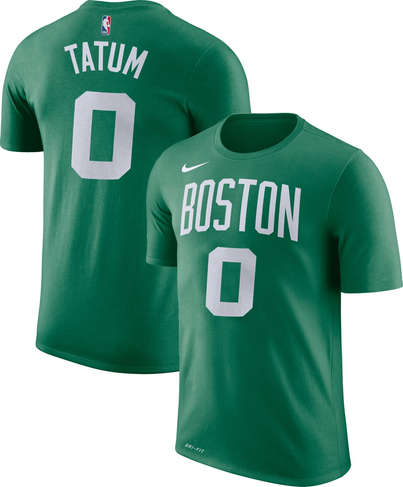 Nike Youth Boston Celtics Jayson Tatum #0 Dri-FIT Kelly Green T-Shirt