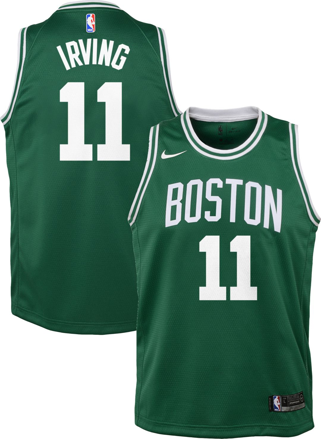 finest selection 561d8 612a2 Nike Youth Boston Celtics Kyrie Irving #11 Kelly Green Dri-FIT Swingman  Jersey