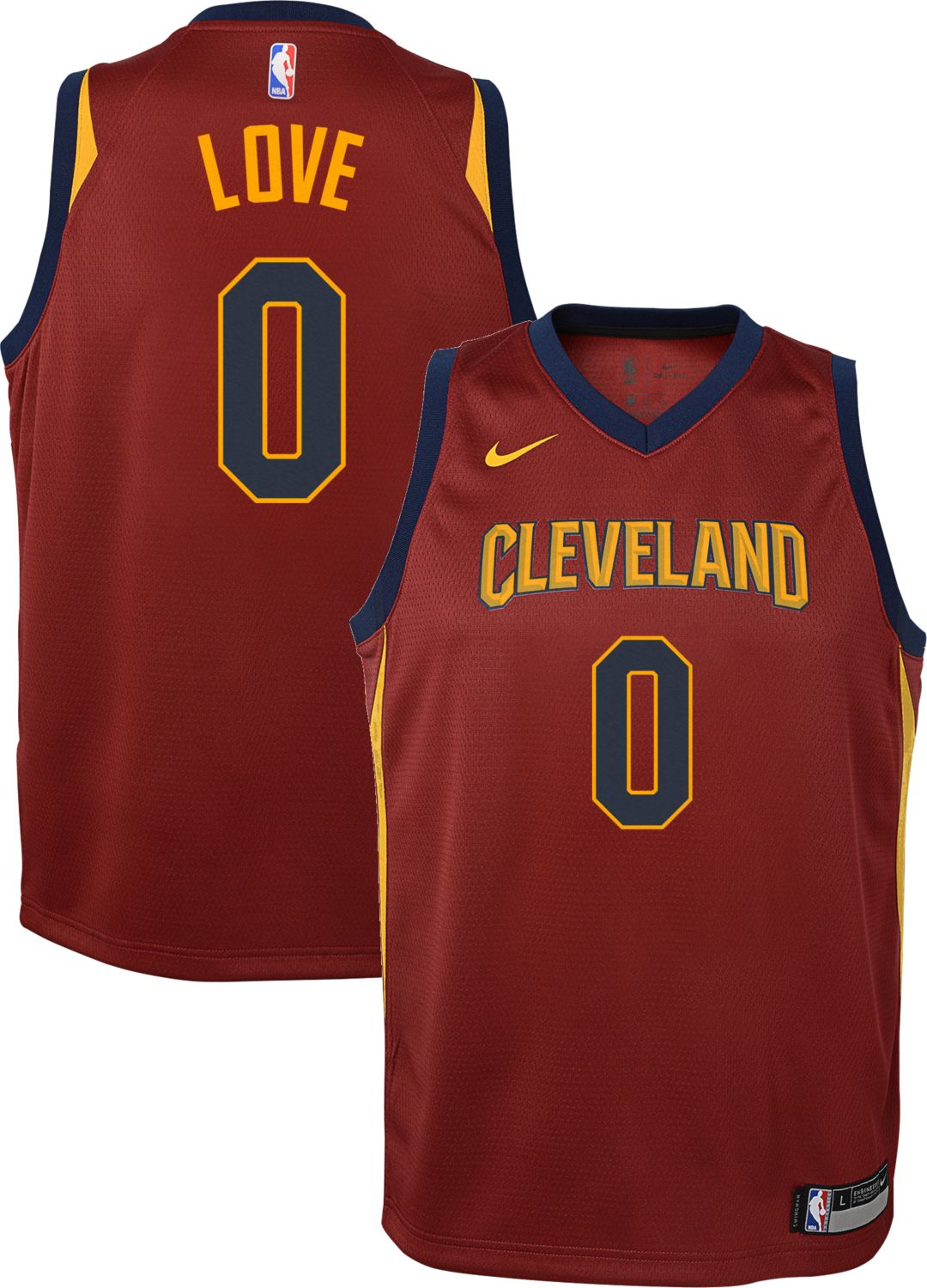 299ce0f09ca6 Nike Youth Cleveland Cavaliers Kevin Love  0 Burgundy Dri-FIT Swingman  Jersey 1