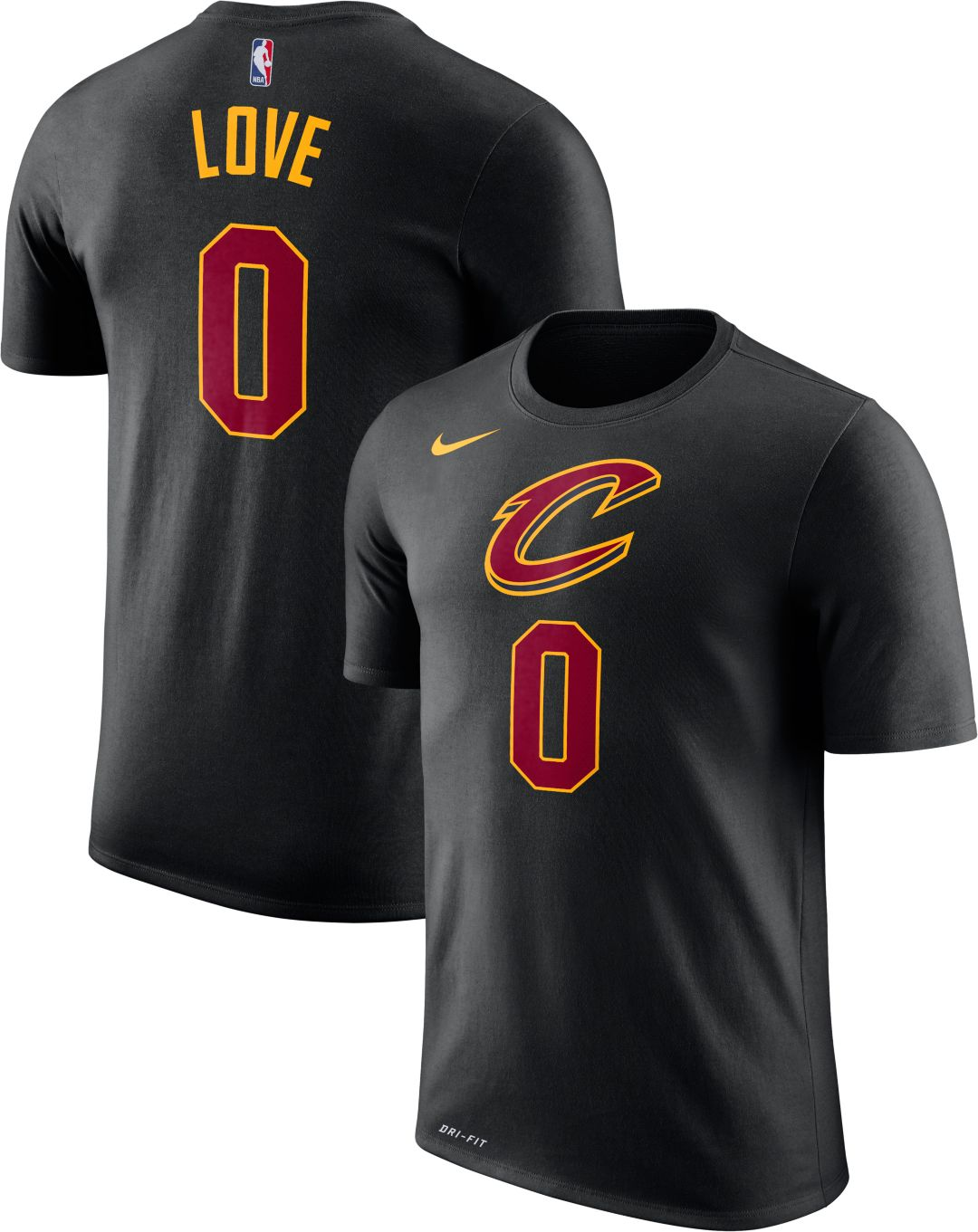 babac97bf58 Nike Youth Cleveland Cavaliers Kevin Love #0 Dri-FIT Black T-Shirt ...