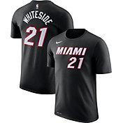 Nike Youth Miami Heat Hassan Whiteside #21 Dri-FIT Black T-Shirt