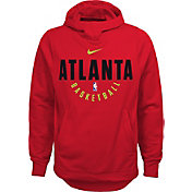 Nike Youth Atlanta Hawks Therma-FIT Red Practice Performance Hoodie