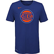 Nike Youth New York Knicks Dri-FIT Royal Logo T-Shirt