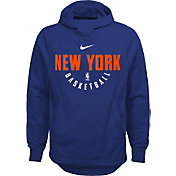 Nike Youth New York Knicks Therma-FIT Royal Practice Performance Hoodie