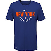 Nike Youth New York Knicks Dri-FIT Royal Practice T-Shirt