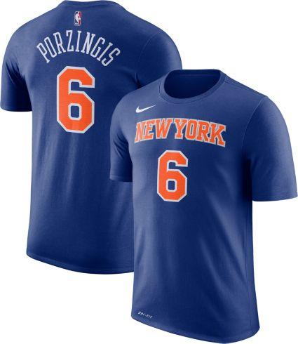 5273866e5b5833 Nike Youth New York Knicks Kristaps Porzingis  6 Dri-FIT Royal T ...