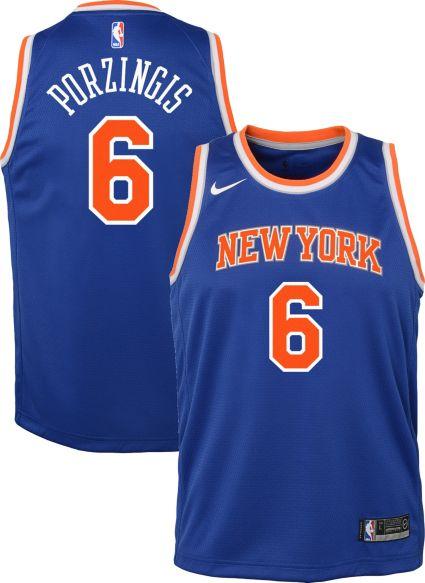 70a2c5069318a1 Nike Youth New York Knicks Kristaps Porzingis  6 Royal Dri-FIT ...
