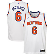 Nike Youth New York Knicks Kristaps Porzingis #6 White Dri-FIT Swingman Jersey