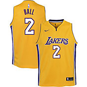 Nike Youth Los Angeles Lakers Lonzo Ball #2 Gold Dri-FIT Swingman Jersey