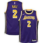 Nike Youth Los Angeles Lakers Lonzo Ball #2 Purple Statement Dri-FIT Swingman Jersey