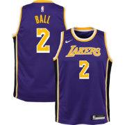 8adf4d035 Nike Youth Los Angeles Lakers Lonzo Ball  2 Purple Statement Dri-FIT Swingman  Jersey