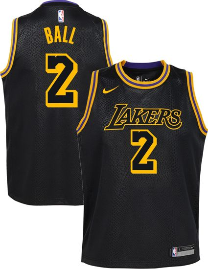 Nike Youth Los Angeles Lakers Lonzo Ball Dri-FIT City Edition Swingman  Jersey. noImageFound f3103a164