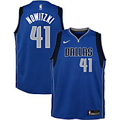 Nike Youth Dallas Mavericks Dirk Nowitzki #41 Royal Dri-FIT Swingman Jersey