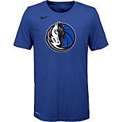 Nike Youth Dallas Mavericks Dri-FIT Royal Logo T-Shirt