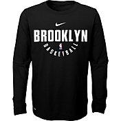 Nike Youth Brooklyn Nets Dri-FIT Black Practice Long Sleeve Shirt