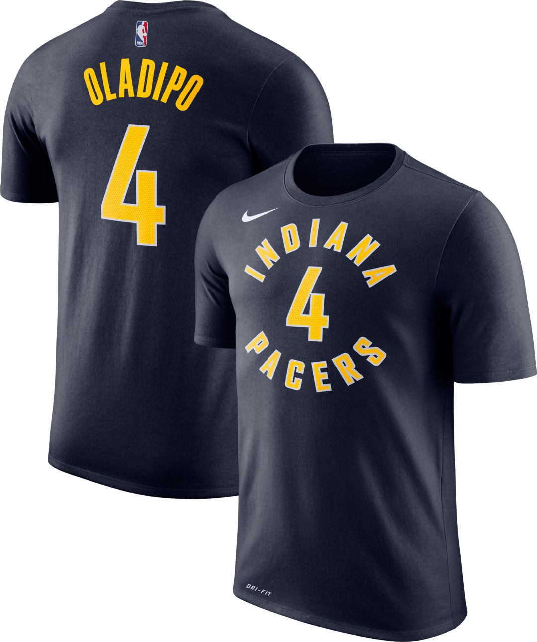 los angeles da471 b4775 Nike Youth Indiana Pacers Victor Oladipo #4 Dri-FIT Navy T-Shirt