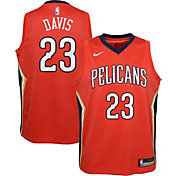 Nike Youth New Orleans Pelicans Anthony Davis #23 Red Dri-FIT Swingman Jersey